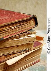 muito, livros, antigas, antiquarian