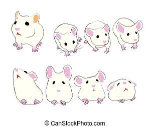 muizen, anders, schattig, woning, maniertjes