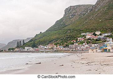 Muizenberg beach on a gloomy morning