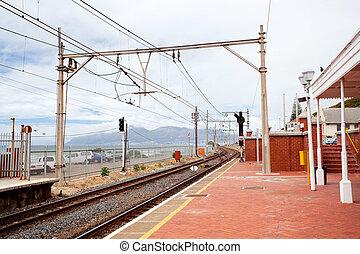 muizenberg, estação de comboios, cidade do cabo