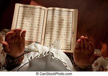 mujer, 5, musulmán