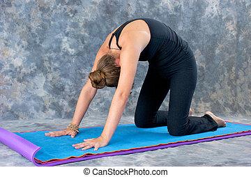 postura yoga ejercicio amaestrado  aislado white