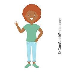 mujer americana, afro