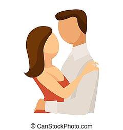 mujer, amor, familia , pareja, abrazo, abrazo, hombre