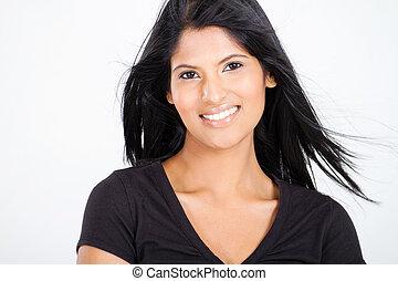 mujer, atractivo, latín, joven