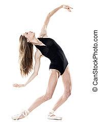 mujer, bailarín, aislado, bailando