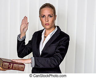 mujer, biblia, swears