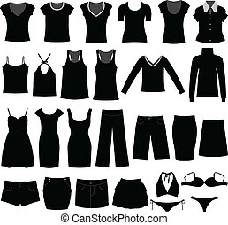 mujer, camisa, tela, uso, hembra, niña