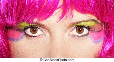 mujer, colorido