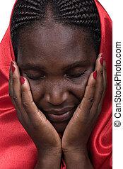 mujer, cristiano, africano