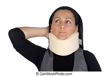 mujer, cuello, cervical