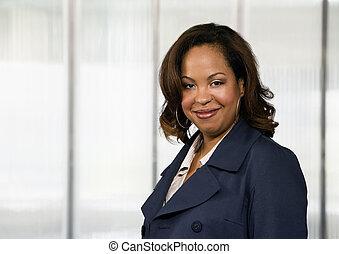 mujer de negocios, african - american