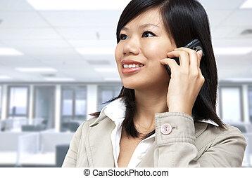 mujer de negocios, asiático