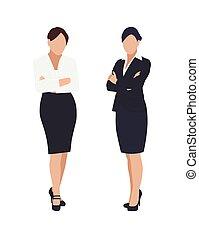 mujer de negocios, blanco