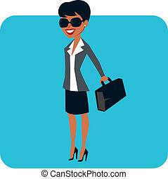 mujer de negocios, carácter