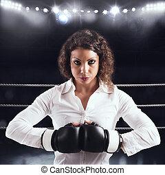 mujer de negocios, determinado