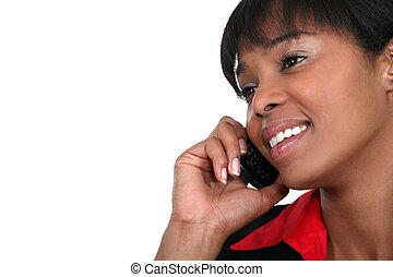 mujer de negocios, norteamericano, africano