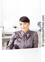 mujer de negocios, oficina