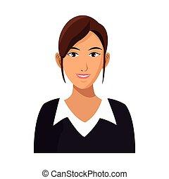 mujer de negocios, profesional, trabajo, carrera