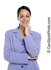 mujer de negocios, retrato