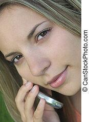 mujer de teléfono