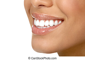 mujer, dientes