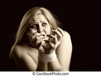 mujer, doméstico, víctima, abuso, violencia