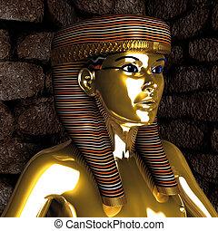 mujer, egipcio