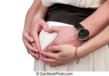 mujer, embarazada