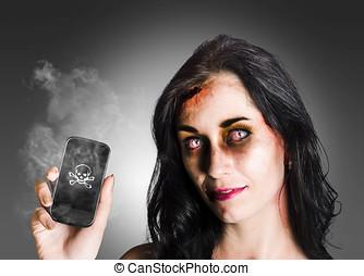 mujer, empresa / negocio, muerto, zombi, tenencia,...