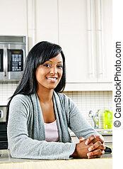 mujer, en, cocina
