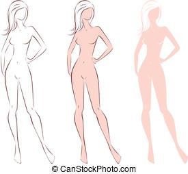 mujer, figura