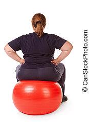 mujer, grasa, condición física