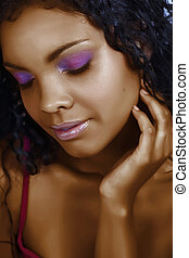 mujer hermosa, africano
