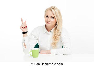 mujer hermosa, empresa / negocio, creativo
