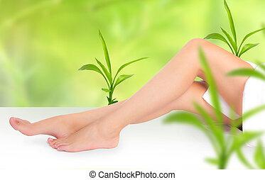 mujer hermosa, piernas