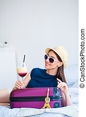 mujer hermosa, woman., vacation., asideros, vacaciones,...