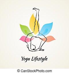 mujer hermosa, yoga