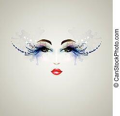 mujer, hermoso, diseño