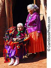 mujer, hija, ella, muy, viejo, navajo