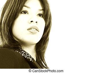 mujer hispana, adolescente