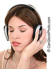 mujer, hispano, música