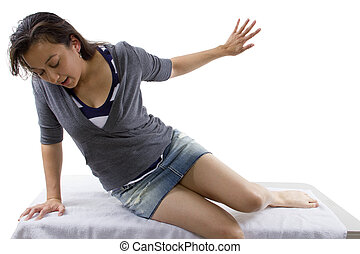 mujer, inconsciente
