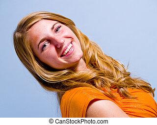 mujer joven, retrato