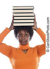 mujer, libros