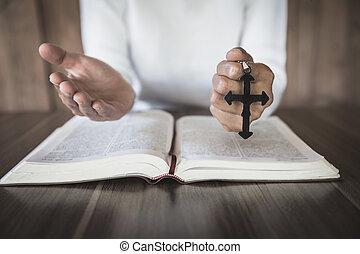 mujer, mañana, religión, dios, joven, spirtuality,...