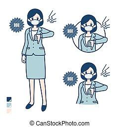 mujer, mask_booing, simple, juicio negocio