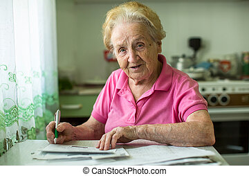 mujer mayor, populates, manija, ella