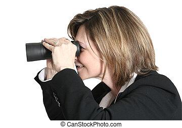 mujer mirar