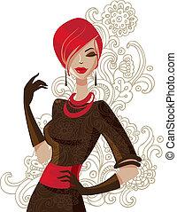 mujer, moda